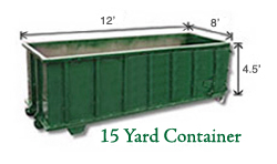 15 Yard Container